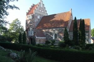 Sandby kirke, bygget i 1100-tallet